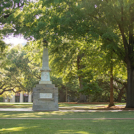 Maxcy monument on the historic Horseshoe