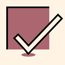 azalea-colored checkmark