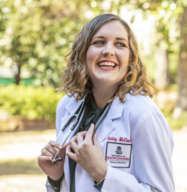 Fourth-year med student Ashley McCaskill