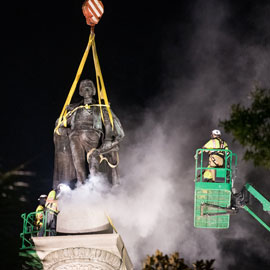 John C. Calhoun statue is removed in Charleston, South Carolina