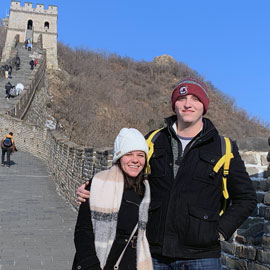samantha petrelli and dalton stalvey on the Great Wall of China