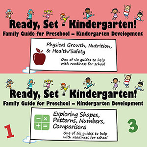 covers of two booklets that prepare children for kindergarten